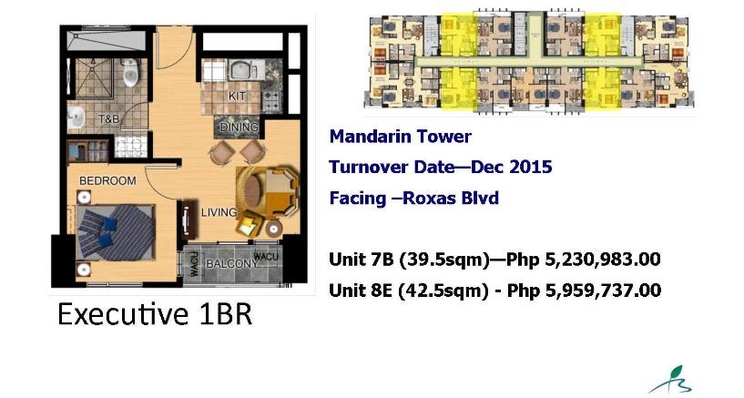 MANDARIN tower 1br bay garden