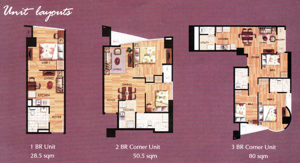 One Lilac Place Unit Layouts