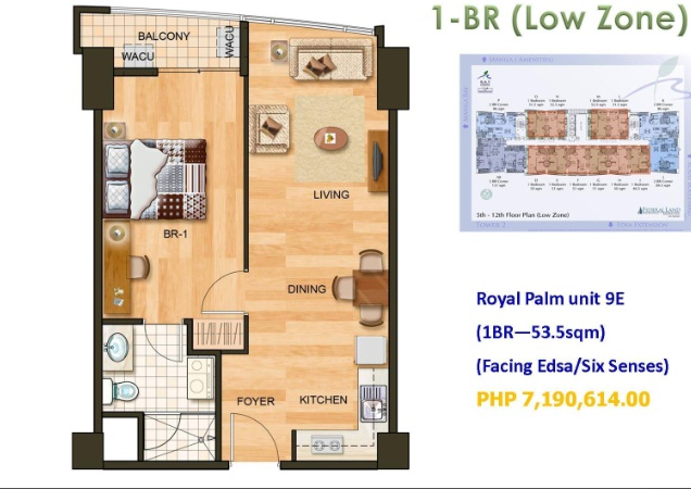 royal palm bay garden 1br