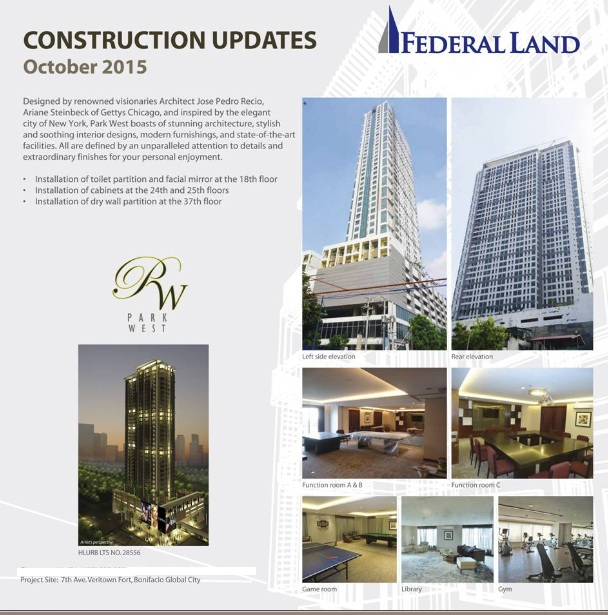 park west updates oct 2015